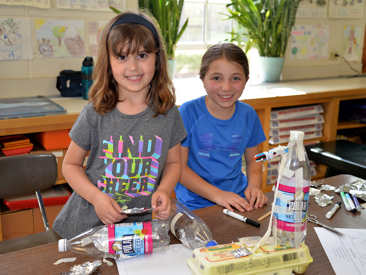 Lower School Students Collaborate to Create Earth Friendly Devices