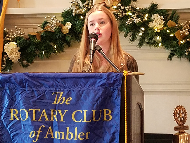 Katie Kramp '18 Named Ambler Rotary Club's Student of the Month