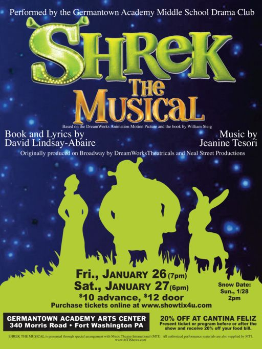 Middle School to Perform Shrek: The Musical