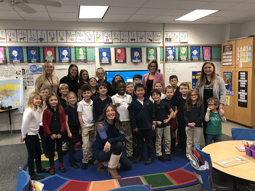First and Second Grade Students Making a Difference for NICU Babies